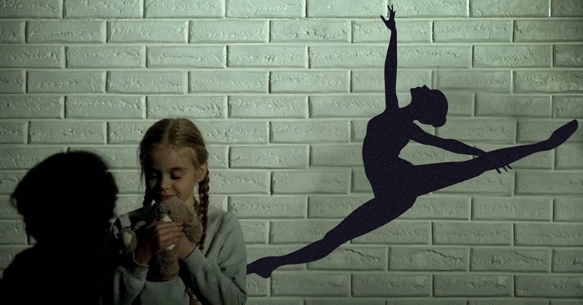 little girl confident dancer