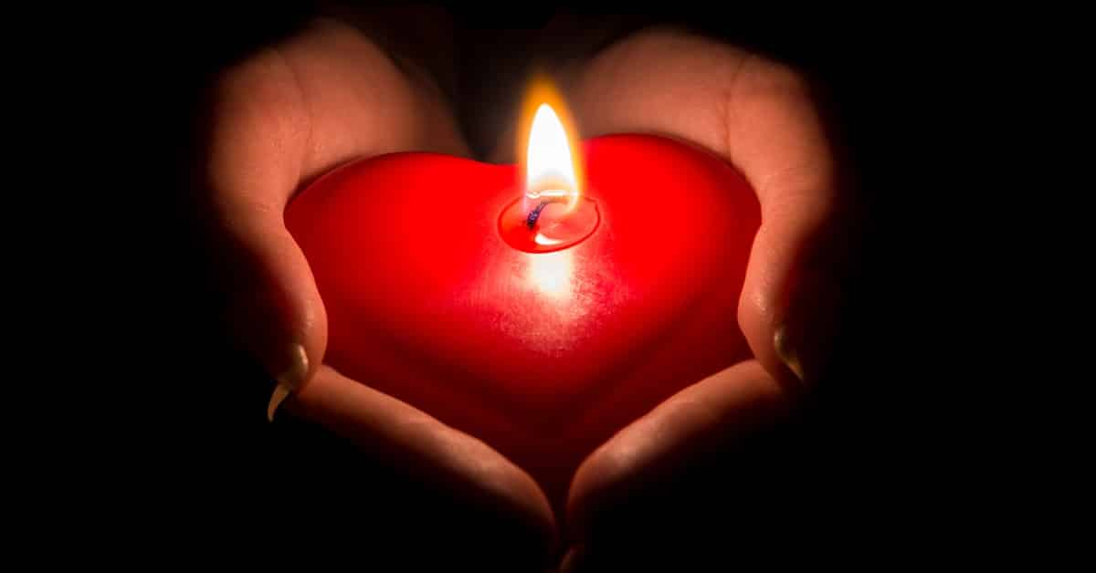 heart candle burning desire