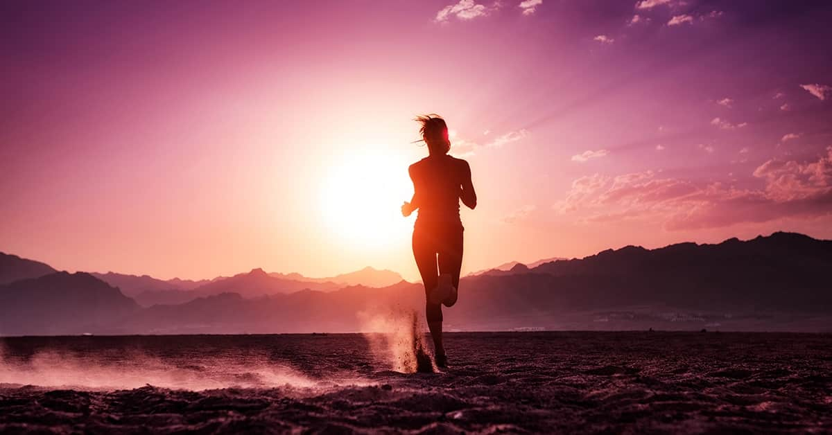successful runner woman persevering