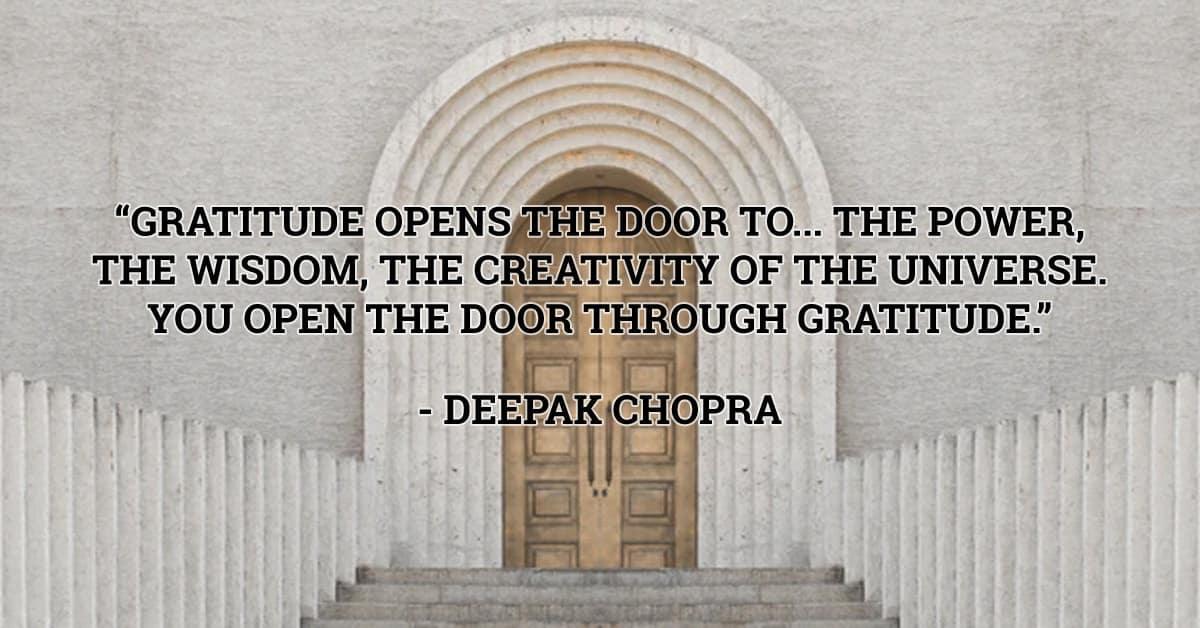 deepak chopra gratitude quote