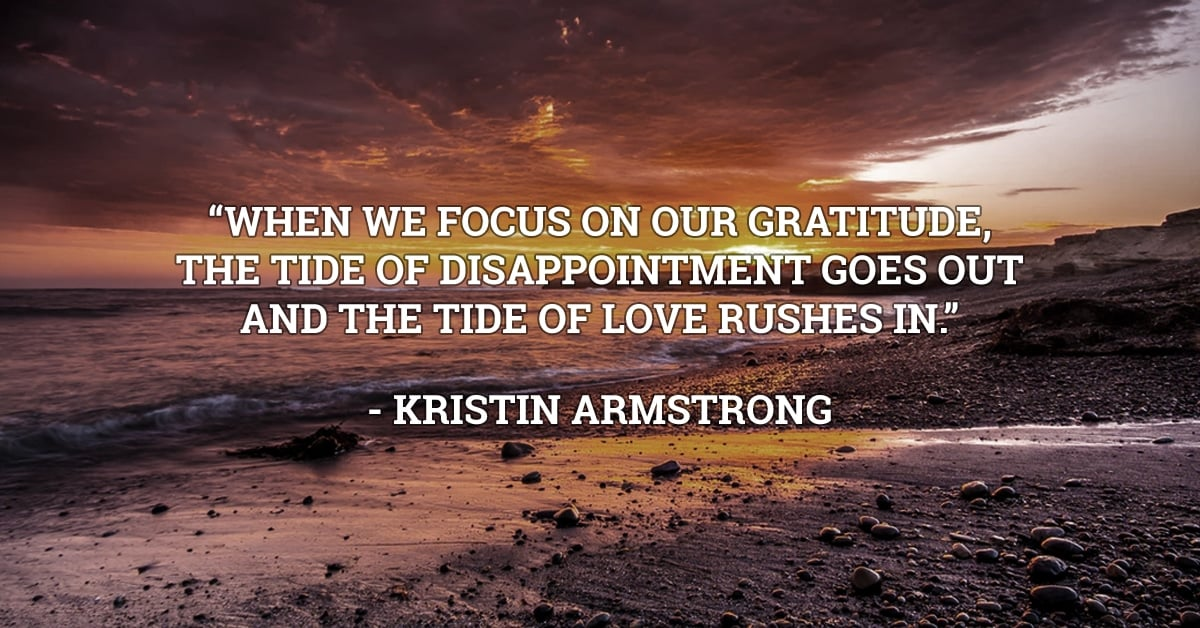 kristin armstrong gratitude quote