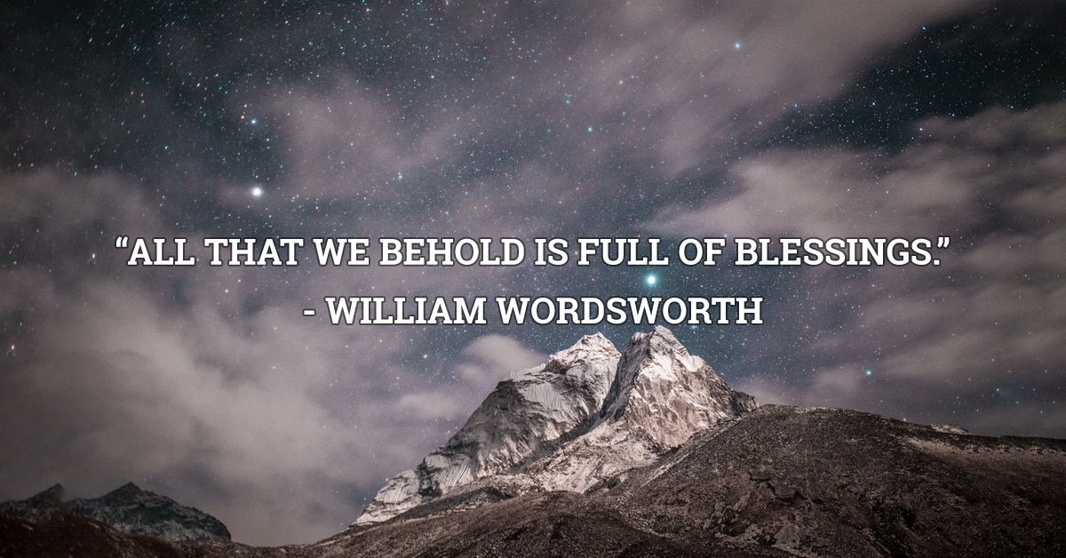 william wordsworth blessings quote