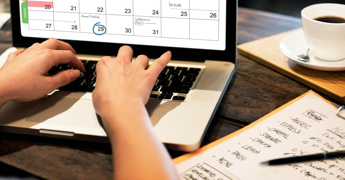 calendar on computer