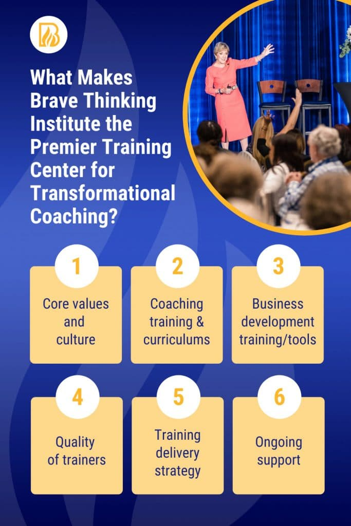 What makes the Life Coach Certification and Life Coach Training Brave Thinking Institute?
