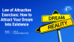 Law of Attraction Exercises: How to Attract Your Dream Into Existence